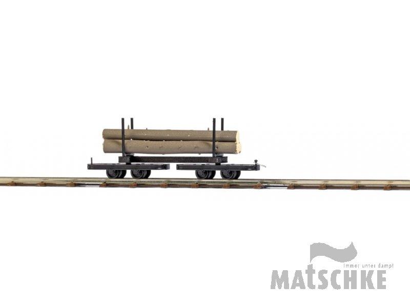 Drehgestell-Baumstammwag. H0e Busch 12222