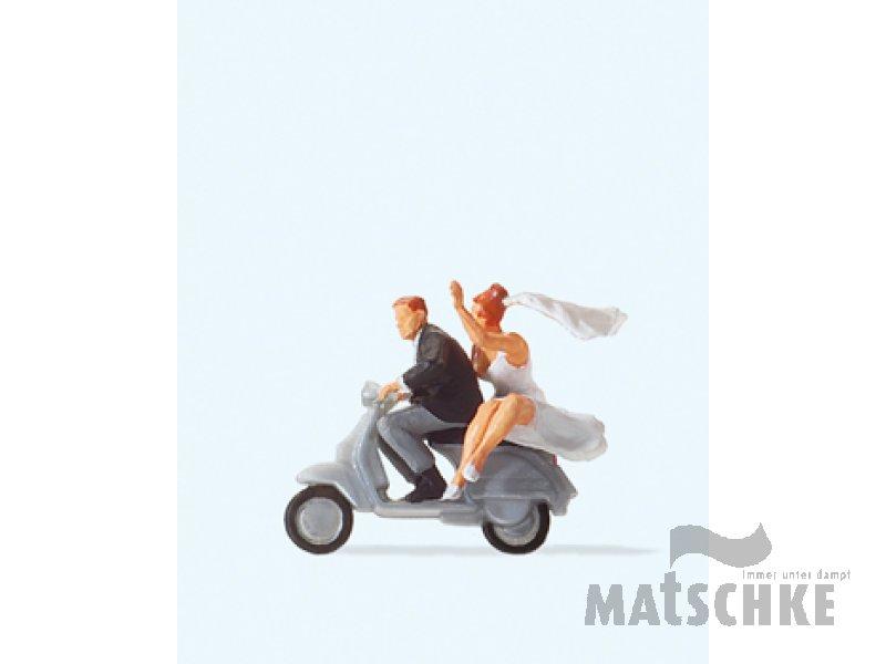 Brautpaar Auf Vespa Roller Preiser 28150